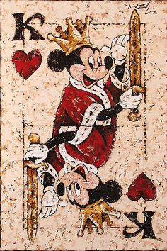 Mickey Mouse - King of Hearts - Original - Trevor Mezak - World-Wide-Art.com