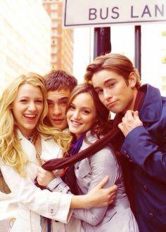Serena, Chuck, Blair & Nate