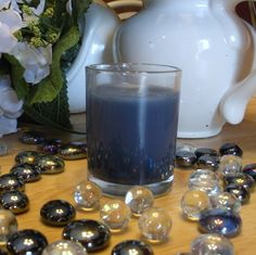 Navy Blue Ocean Scented Votive Candle on Etsy $1.75