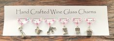 Baking Wine Glass Charms - Stocking Fillers - Christmas Gifts - Cooking £10.99 Great British Bake Off, Gifts For Cooks, Wine Glass Charms, Stocking Fillers, Tray Bakes, Mothers, Swarovski Crystals, Great Gifts, Christmas Gifts