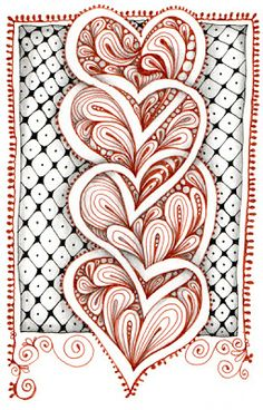 Open Seed Arts: Tangled Love by Carol Ohl, Certified Zentangle Teacher