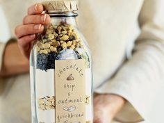 Un kit gourmand à offrir : 5 recettes à faire dans un bocal A gourmet kit to offer: 5 recipes to be made in a jar