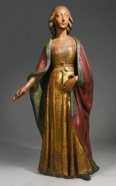 Agnolo di Polo-Maria Maddalena,Mary c. 1495 terracotta, 156 cm,Collezione privata