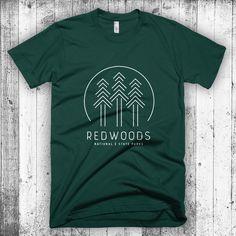 Redwoods T-shirt, National Park T-Shirt, Hipster Modern T-shirt for Men, Outdoorsy T-shirt, National Park Tee Gift, Redwoods National Park by CityandSky on Etsy https://www.etsy.com/listing/254051500/redwoods-t-shirt-national-park-t-shirt