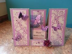 Double-sided step card for Mother's Day.