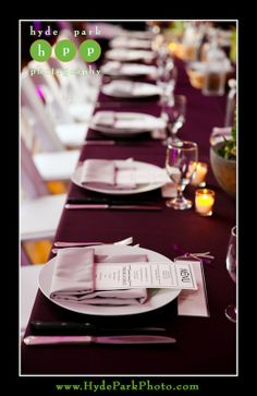 Jerry + Diego | Purple Wedding | Purple Table Setting | Texas Federation of Women's Clubs Mansion | Austin, TX | Hyde Park Photography | Pearl Events Austin | www.pearleventsaustin.com