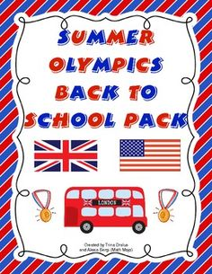 Go for the GOLD this year with this Olympic themed back to school pack! This 88 page file will help you with all aspects of starting your school year! Ther are room decorations, open house activites, first week communication, first week activities, and much, much more! $8.00