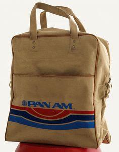 vintage flight bag pan american