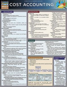 Cost Accounting Study Guide. 6-page edition details the many aspects of accounting within businesses; key definitions and examples of accounting practices are listed for easy reference. http://www.Examville.com #studyguide #testprep #downloads #ebooks #free #education #classrooms #lessonplans #teaching #homeschool #school #college #teachers #examville #accounting #finance #Series7