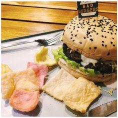 Burger cravings on a  :) Head to Bad Burgers today! Bad Burger, Burgers, Cravings, Sunday, Ethnic Recipes, Food, Hamburgers, Meals, Hamburger Patties