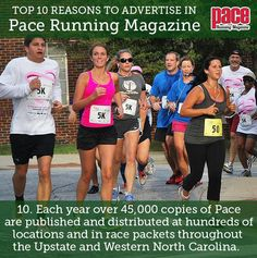 Top 10 Reasons to Advertise in Pace Running Magazine. Pace Running, Running Magazine, Western North Carolina, Number 10, Advertising, Baseball Cards, Sports, Top, Hs Sports