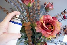 How to clean artificial flower arrangements ;)
