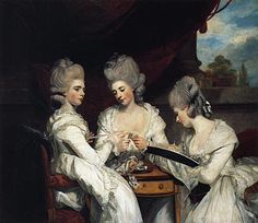 The Ladies Waldegrave 1780-81  Sir Joshua Reynolds  The three Waldegrave sisters were painted for their great uncle, Horace Walpole, to hang in his celebrated house in Strawberry Hill.  The sisters, all of whom were to marry in the following years, were single when the painting was commissioned. Exhibited at the Royal Academy in 1781, advertised their eligibility, desirability. Individually and collectively, the Waldegrave sisters embody contemporary ideals of feminine accomplishment and…