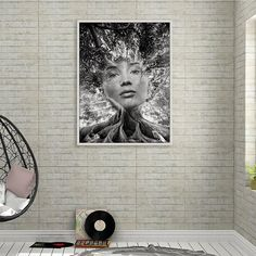 Photo Manipulation Print, Abstract Portrait Poster, Modern Wall Art, Home Decor, Black and White Abstract Art, Photography, Digital Download