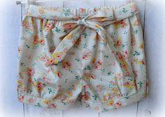 Girls+Cotton+floral+shorts+by+LittleMacsClothing+on+Etsy,+$25.00 Cute Shorts, Floral Shorts, Little Miss, Perfect Fit, Elastic Waist, Harem Pants, Cotton Fabric, Stylish, Girls