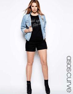 ASOS CURVE | Exclusive Denim Short With High Waist #asoscurve #denim #shorts