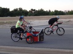 Me and my oldest son riding along in our Cargo Trike during Fresno's Ride of Silence
