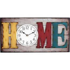 "Better Homes and Gardens 20"" Big Rectangle Home Wall Clock"