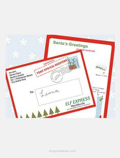 """Imagine their surprise when they receive a letter from Santa! Magical and motivating, we've rounded up 15 printable letters from Santa templates you can send to a special child. Whether you want an """"official"""" letter Noel Christmas, Christmas Goodies, Christmas Printables, Christmas Activities, Christmas Traditions, All Things Christmas, Winter Christmas, Christmas Crafts, Christmas Letters"""