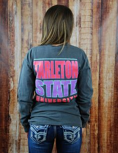 Keep it bright and trendy while showing you bleed purple in this new Tarleton State University t-shirt! There isn't a better way to show your love! GO TSU TEXANS!