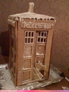 Tardis gingerbread house. K-9 is the best part about it.