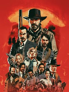 'Red Dead Poster Fan Art' Canvas Print by Cool Wallpapers For Your Phone, Canvas Art Prints, Framed Prints, Red Dead Redemption, Art Boards, Game Art, Decorative Throw Pillows, Illustration Art, Rdr 2