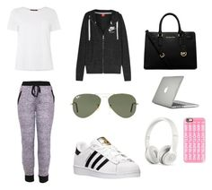 """""""Airport"""" by valeriatrujillog on Polyvore featuring MaxMara, NIKE, Ray-Ban, adidas, Michael Kors, Speck, Casetify and Beats by Dr. Dre"""