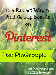 Find group boards easily with PinGroupie.com. This is one free resource that every Pinterest user will love. #PinGroupie