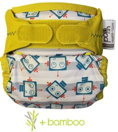 Close Pop-in 228132/ cloth nappies with bamboo absorbent liner with a green campervan