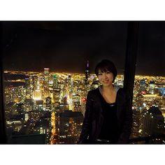 Instagram【mk_lib28】さんの写真をピンしています。 《とりあえずCHICAGOらしい一枚を。  ジョンハンコックセンターにて。  #夜景#シカゴ#CHICAGO#AMERICA#アメリカ #女1人旅#一人旅 #ジョンハンコックセンター #360°CHICAGO》