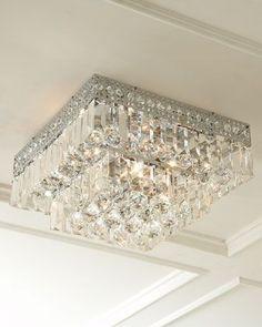 Five-Light Crystal Flush-Mount Ceiling Fixture - ShopStyle Lighting