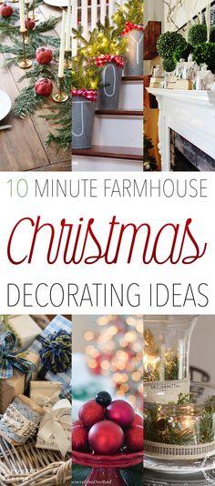 10 Minute Farmhouse Christmas Decorating Ideas!