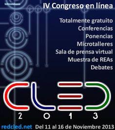 Una nueva edición #CLED2013 Puedes registrarte sin Costo y puedes participar en distintas modalidades. Revisa la convocatoria.
