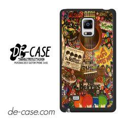 The Beatles Hippie Guitar For Samsung Galaxy Note Edge Case Phone Case Gift Present YO
