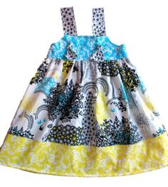 Knot Dress Pattern, PDF Sewing Pattern, The Ava Knot Dress,Girls, Baby, Toddler, Sizes 6m-12