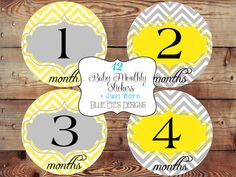 Baby Month Stickers,Monthly Baby Stickers,Month by Month Stickers,Baby Belly Stickers,Baby Age Stickers,Growth Stickers,Baby Shower gift on Etsy, $12.50