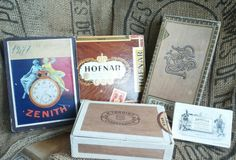 Cigar boxes and a great watch part box