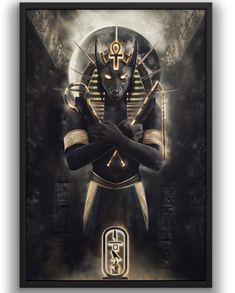 Anubis: Lord of the Dead Egyptian Anubis, Egyptian Symbols, Ancient Egyptian Art, Anubis Tattoo, Demon Art, Fantasy Wesen, Egyptian Tattoo Sleeve, 4 Tattoo, Hamsa Tattoo
