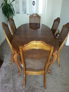 Dining Room Table and Chairs Makeover by Absolutely Vintage - Featured on Furniture Flippin'