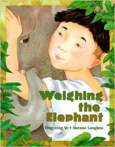 MATH: MEASUREMENT. This book is about a small boy who's elephant is taken from him by the Emperor. In order to get his elephant back, the Emperor challenges the boy and his village to come up with the elephant's exact weight...