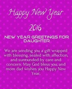New Year 2017 Wishes Daughter New Year