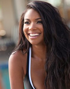 Gabrielle Union=perfect hair and makeup