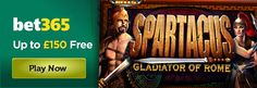 Play the WMS-powered Spartacus Gladiator of Rome slot game at bet365 Games and receive a 150% match bonus up to £150: http://www.casinomanual.co.uk/play-spartacus-gladiator-rome-slot-online-bet365-games/