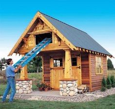 Amazing Shed Plans two level craftsman storage shed (The wood plans shop www. Now You Can Build ANY Shed In A Weekend Even If You've Zero Woodworking Experience! Start building amazing sheds the easier way with a collection of shed plans! Wood Shed Plans, Shed Building Plans, Diy Shed Plans, Storage Shed Plans, Diy Storage, Building Ideas, Small Storage, 10x10 Shed Plans, Ladder Storage
