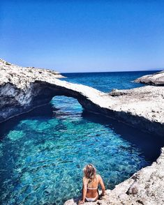 Milos, Greece - throw a stone and you will hit ten more beaches like this and not a person in sight. #greekislands