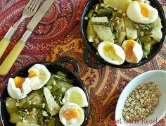 Ensalada Tibia de Espárragos y Huevos mollet
