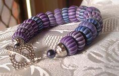 shades of purple rondelle bracelet