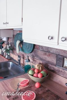 Shabby Chic Stained Beadboard Backsplash For The Home