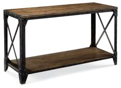 Magnussen T1755 Pinebrook Wood Rectangular Console Table - Console Tables at Hayneedle