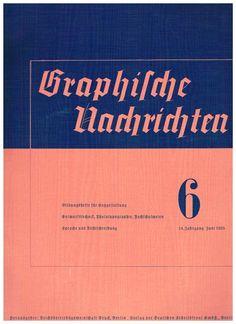Cover Graphische Nachrichten, 14. Jahrgang, Heft 6, 1935